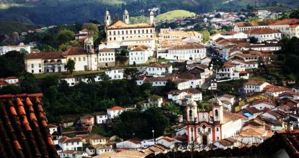 Onde comer em Ouro Preto - Visão de cima da cidade