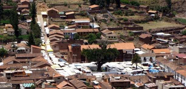 Valle Sagrado - Mercado de Pisac visto de longe