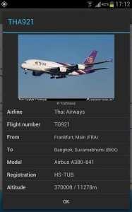 FlightRadar24 PRO - detalhes do vôo