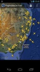 FlightRadar24 free - imagens de satélite