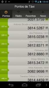 Apps de Táxi - Moove - pontos de táxi