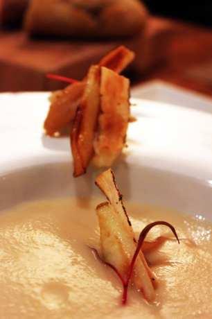 Comer bem em Montreal - L'auberge Saint-Gabriel - sopa de pastinaca