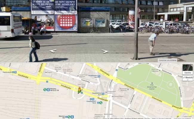 Como ir de Munique para Praga - Ponto de ônibus na Arnulfstrasse
