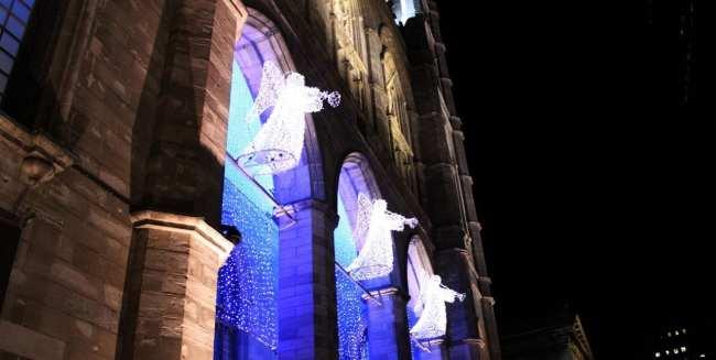 Natal e ano novo na neve de Montreal - anjos na Notre Dame