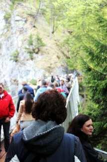 Castelos da Alemanha - Ponte para tirar fotos do castelo de Neuschwanstein