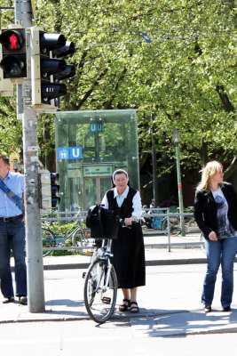 Centro histórico de Munique - Freirinha e sua bicicleta