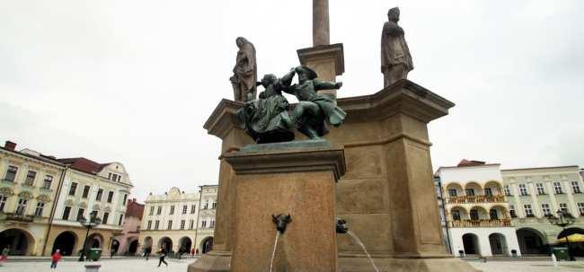 Novy Jicín - Fonte da praça central