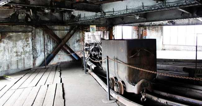 Road trip pela República Tcheca - carrinho da Mina de carvão Michal em Ostrava