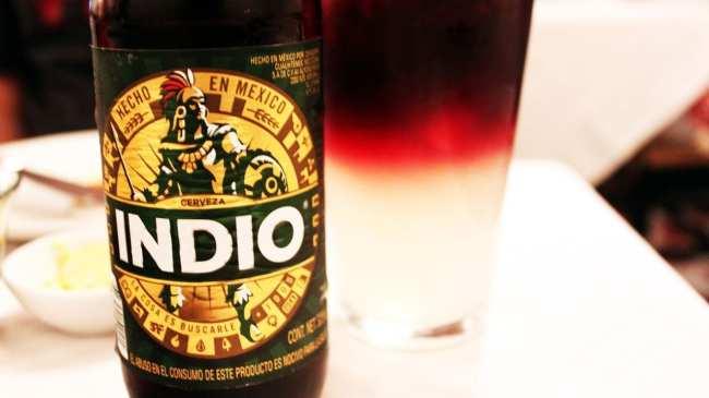 Restaurantes na Cidade do México - Cerveja Indio