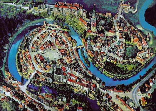 Cesky Krumlov UNESCO - Mapa da cidade