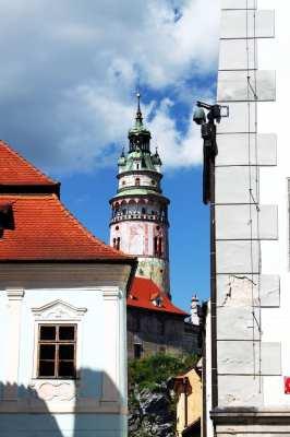 Cesky Krumlov UNESCO - Mais uma visão da torre do castelo