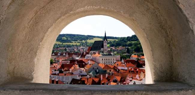 Cesky Krumlov UNESCO - Uma janela, uma paisagem