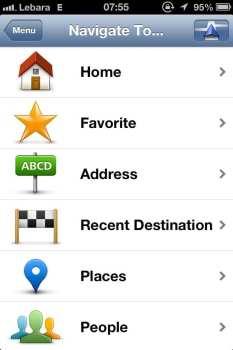 App de GPS TomTom - Navegar até...