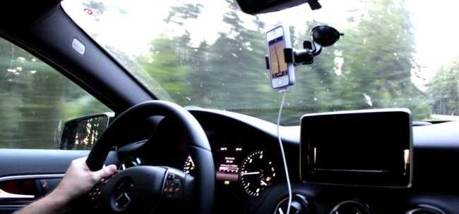 App de GPS TomTom - Seguindo a rota do GPS
