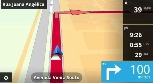 App de GPS TomTom - Tela da versão para Android