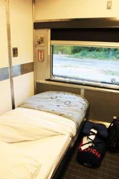 Viajar de trem no Canadá - The Canadian - Cabine para 1 pessoa com cama feita