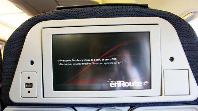 Como é voar de Air Canada - Entretenimento de bordo