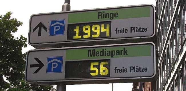 Dicas para dirigir na Alemanha - Indicadores de estacionamentos pagos