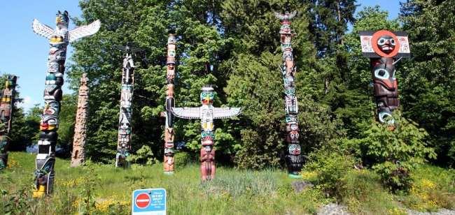Dicas e roteiros de Vancouver - Totens no Stanley Park