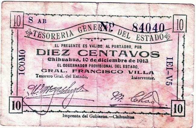 Qual moeda levar para o México - Papel moeda de 1913