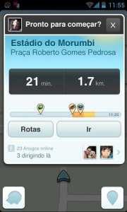 Review Waze GPS - opções de rota