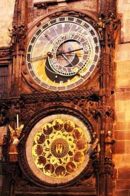 Relógio Astronômico de Praga - Detalhe de noite