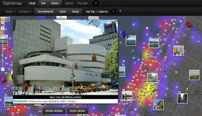 Sightsmap Lugares mais fotografados do mundo - Detalhes do Guggenheim em Nova