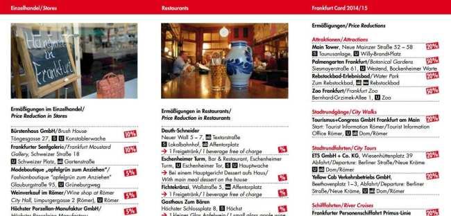 Frankfurt Card - Descontos em Lojas e Restaurantes