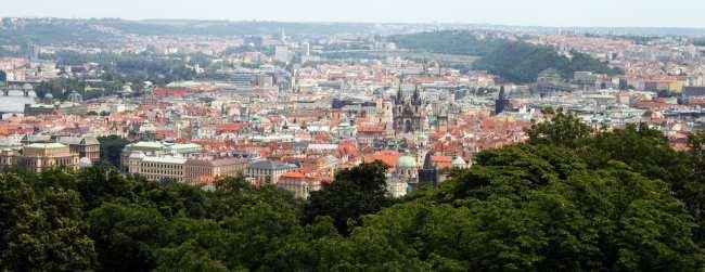 Petrin em Praga - Vista da Cidade Velha