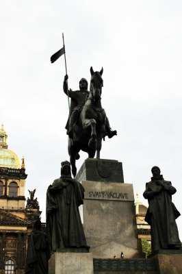 Praça Venceslau de Praga - Estátua do Venceslau 3