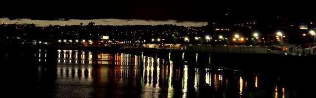Puerto Montt - noite na baía