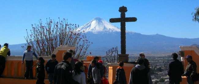 Puebla - Vista do Vulcão Popocatéptl