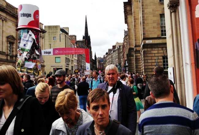 Roteiro de Edimburgo - Cidade lotada