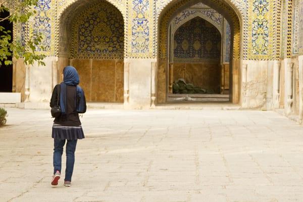 Em Esfahan, já à vontade