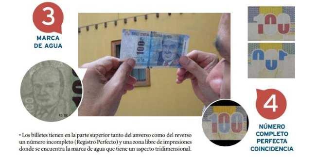 Como identificar notas falsas de nuevos soles no Peru - Marca D'Água