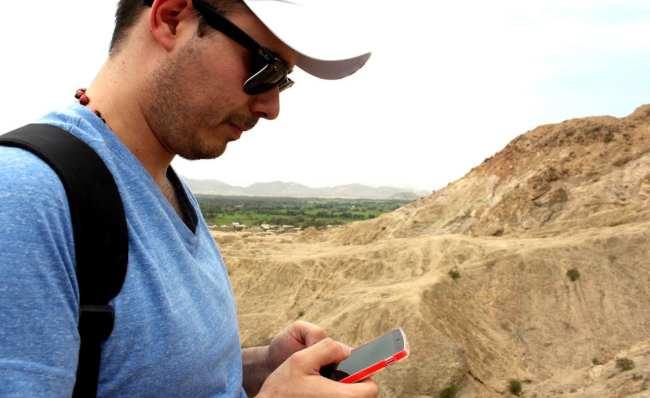 Internet 3G no Peru - Postando fotos da Huaca Rajada em Chiclayo