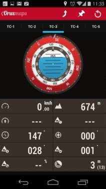 Melhor app de mapas offline - OruxMaps Radar 1
