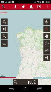 Melhor app de mapas offline - OruxMaps Tela inicial