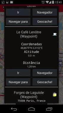 Melhor app de mapas offline - OruxMaps Pontos de interesse