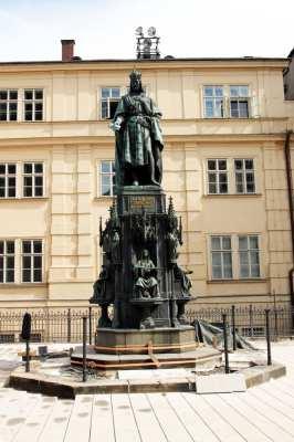 Ponte Carlos em Praga - Rei Carlos IV
