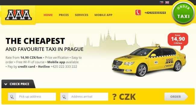 Pegando Taxi em Praga - AAA Taxi