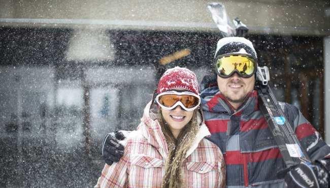 Guia de Valle Nevado - casal na neve