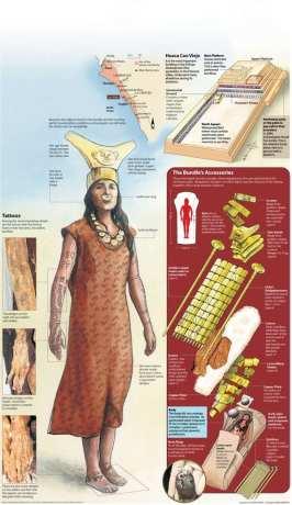 Trujillo Complexo El Brujo e Senhora de Cao - Detalhes das tatuagens