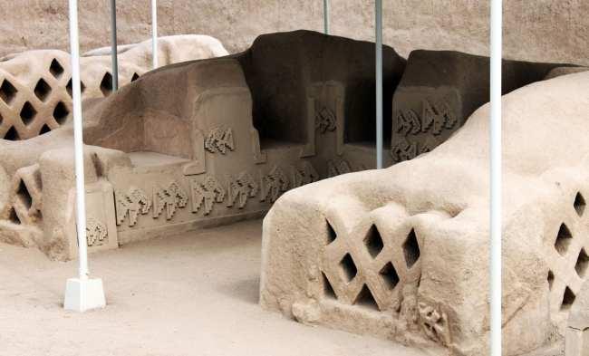 Chan Chan Patrimônio da Unesco - Interior sendo restaurado 7