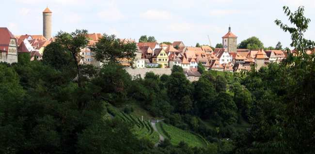 Rothenburg - Vista do alto do castelo (ou o que sobrou dele) 2