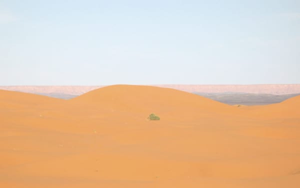 As montanhas ao fundo ficam na Argélia