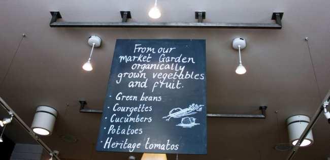 Mercado Daylesford em Notting Hill Londres - produtos orgânicos