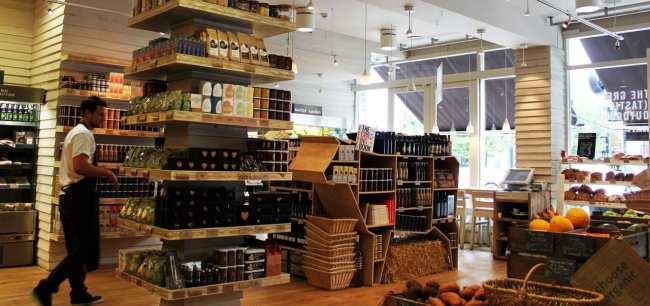Mercado Daylesford em Notting Hill Londres - interior da loja