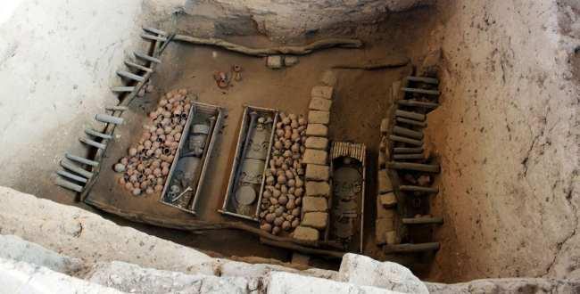 Senhor de Sipán no Norte do Peru - Huaca Rajada tumba