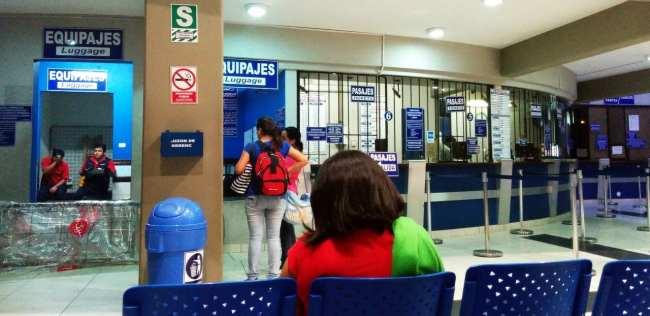 Viajar de ônibus no peru - Terminal de ônibus da Emtrafesa em Trujillo